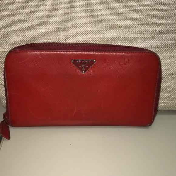 Prada Handbags - Prada Zip Around Wallet